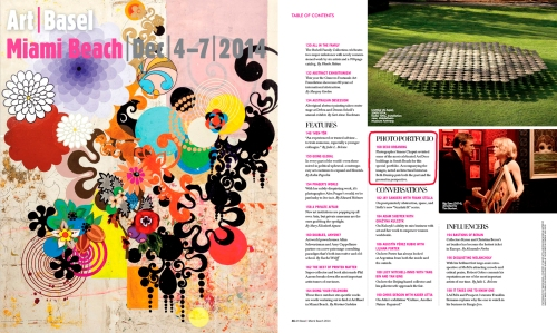 Art Basel Miami Beach Magazine cover and contents