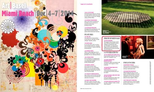 Art Basel Miami Beach Magazine cover and contents